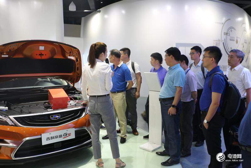 中国锂电新能源产业链调研团一行参观吉利控股集团