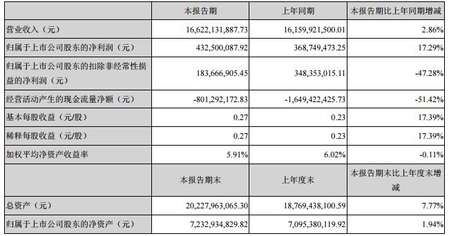 江苏国泰主要会计数据和财务指标