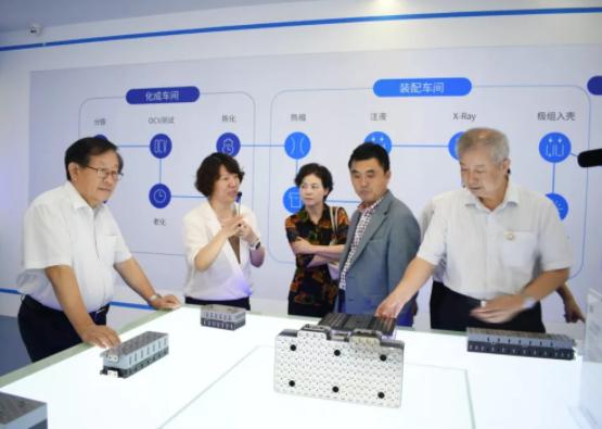 比克电池董事长李向前先生、总工程师骆兆军博士陪同讲解