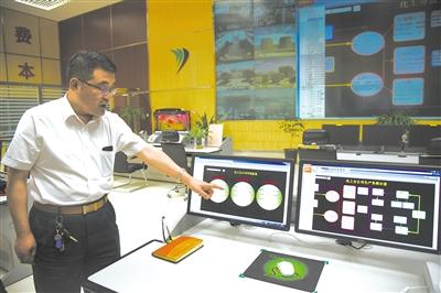 智能化工程管理,每台机器的生产情况都如实地反应在显示屏上。