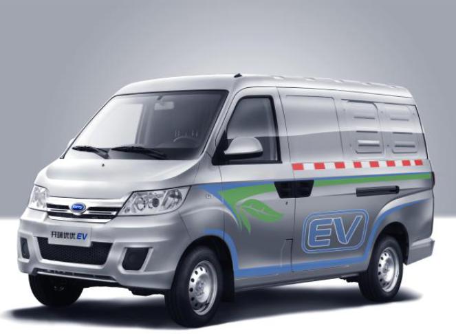 图为领跑新能源商用车的开瑞优优EV