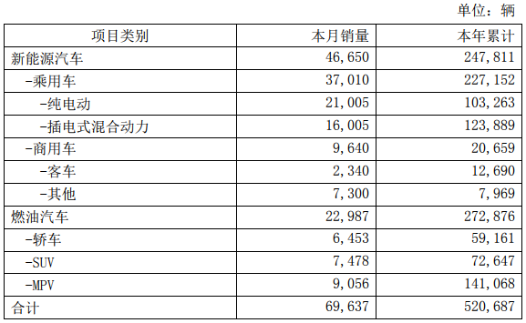 比亚迪去年新能源车销售24.78万辆 电池装机总量约13.37GWh