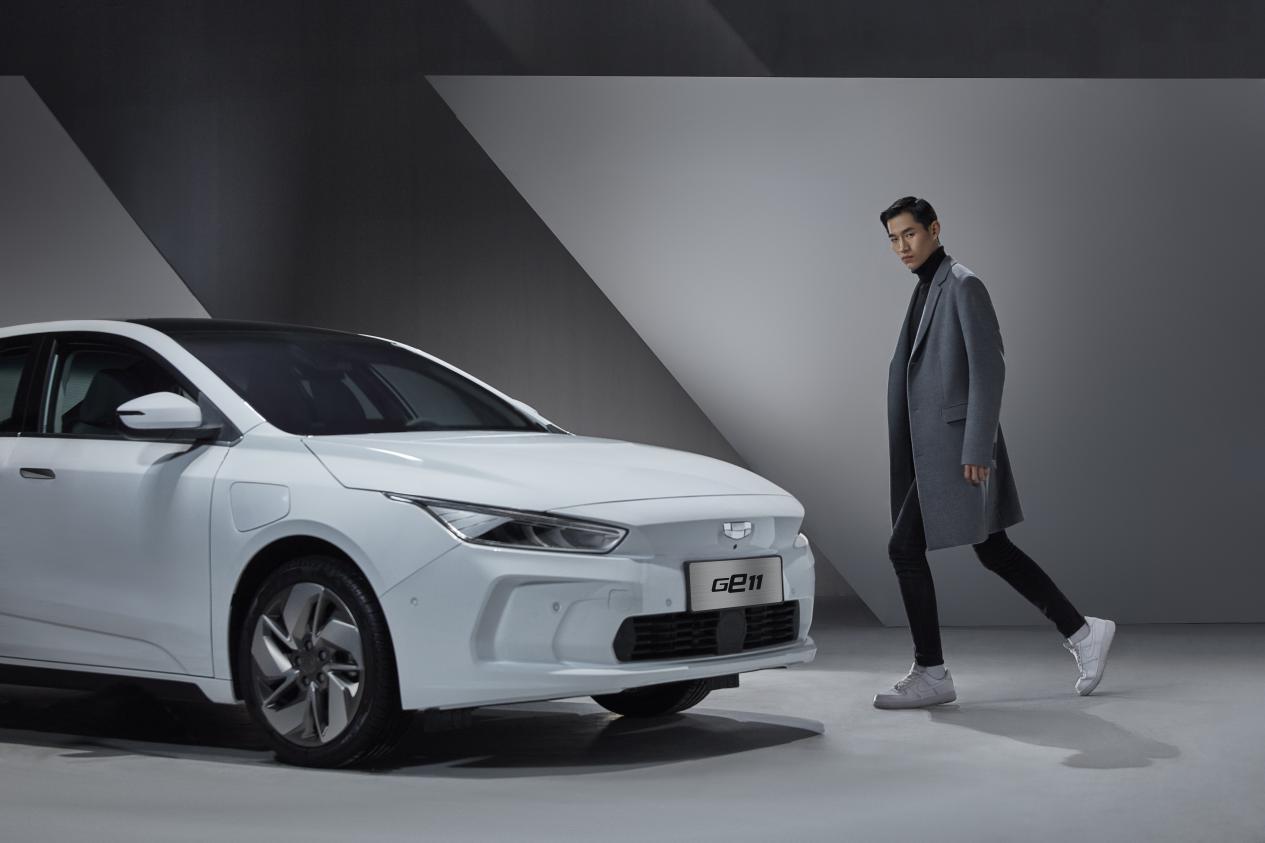 吉利纯电动车型GE11高清图曝光:新车标曝光 对标Model 3