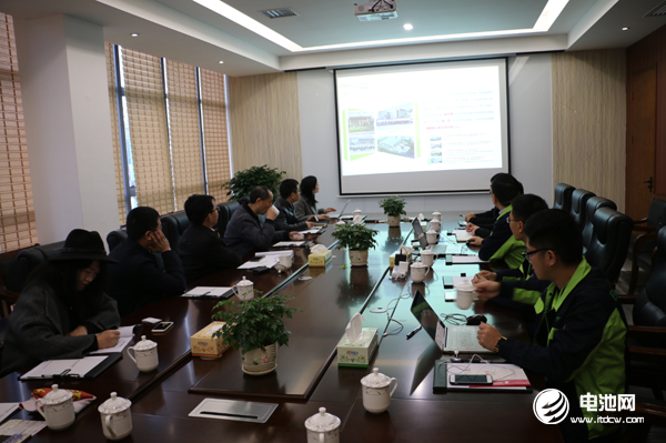 中国电池新能源产业链调研团一行与湖南电将军相关领导交流、座谈