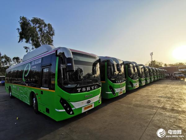 交付海德拉巴的40台比亚迪电动巴士