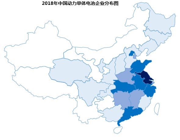 中国动力电池与消费类电池企业分布图
