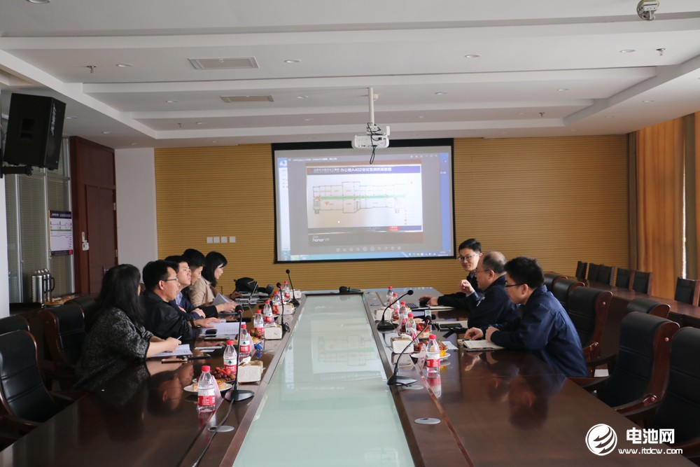 中国电池新能源产业链调研团一行与石大胜华相关领导交流、座谈