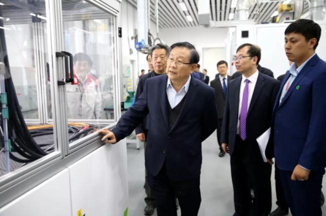 中国科学技术协会主席万钢参观长城汽车氢能技术中心