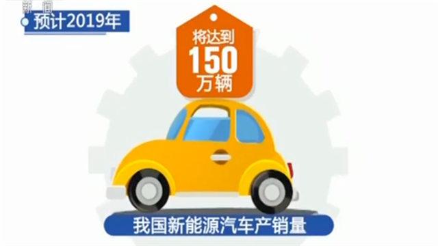 高速增长!2019年我国新能源汽车产销量将达150万辆