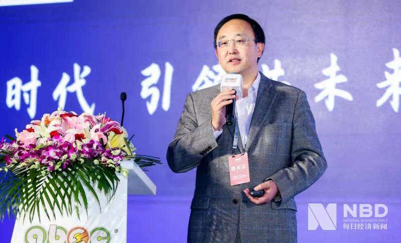 欣旺达副总裁梁锐演讲现场 图片来源:每经记者 欧阳凯 摄
