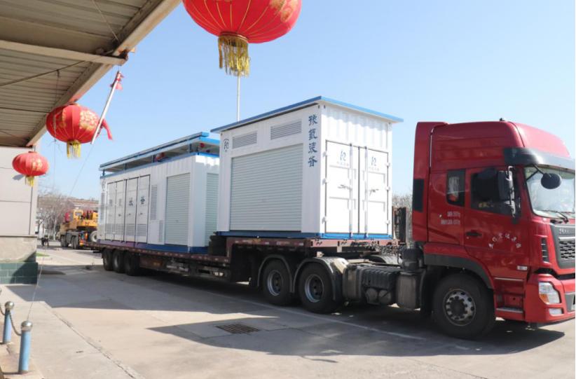 豫氢装备日加氢500公斤撬装式加氢站成套设备运往青岛