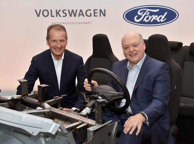 大众福特推进电动车和自动驾驶合作 预计6月底达成最终协议