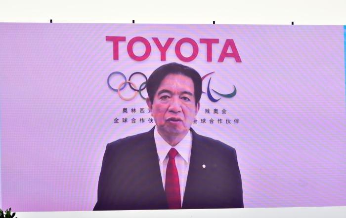 丰田汽车执行董事、中国本部长上田达郎视频致辞