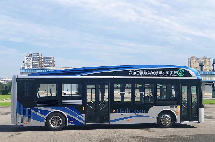 大连首台氢燃料电池城市客车在一汽大客公司下线