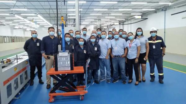 比亚迪巴西磷酸铁锂电池工厂正式投产 年产18000个电池模组