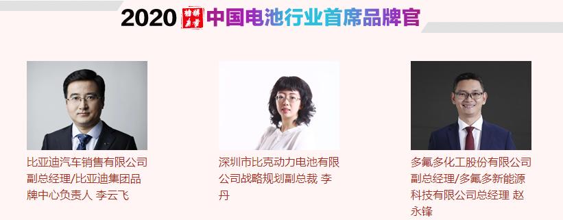 中国电池行业首席品牌官
