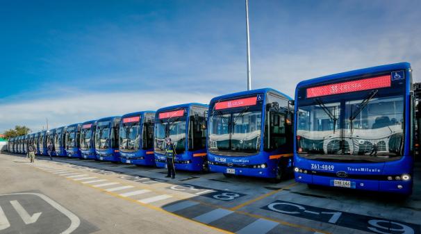 波哥大市政府及市公交管理局为首批120台巴士举行盛大的交付运营仪式