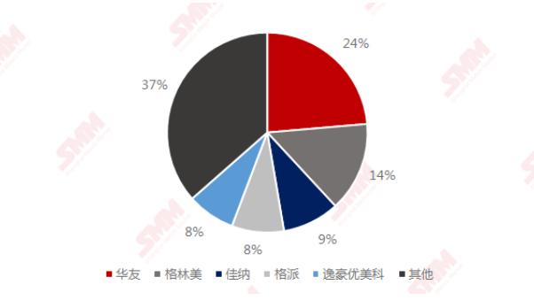 2020年中国硫酸钴TOP5生产商市占率
