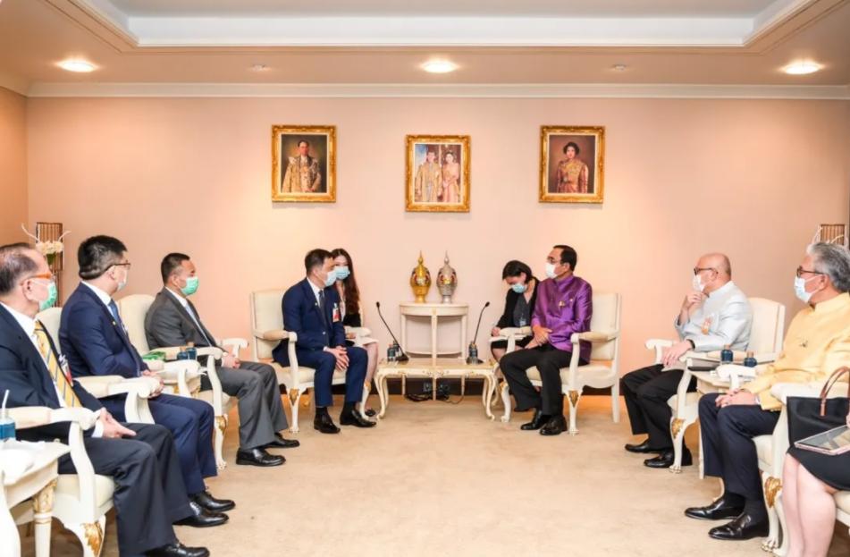 泰国总理巴育接见长城汽车东盟团队 图片来历:长城汽车官微