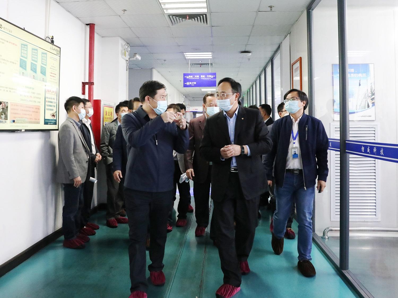 惠州市常务副市长何广延莅临欣旺达博罗园区调研