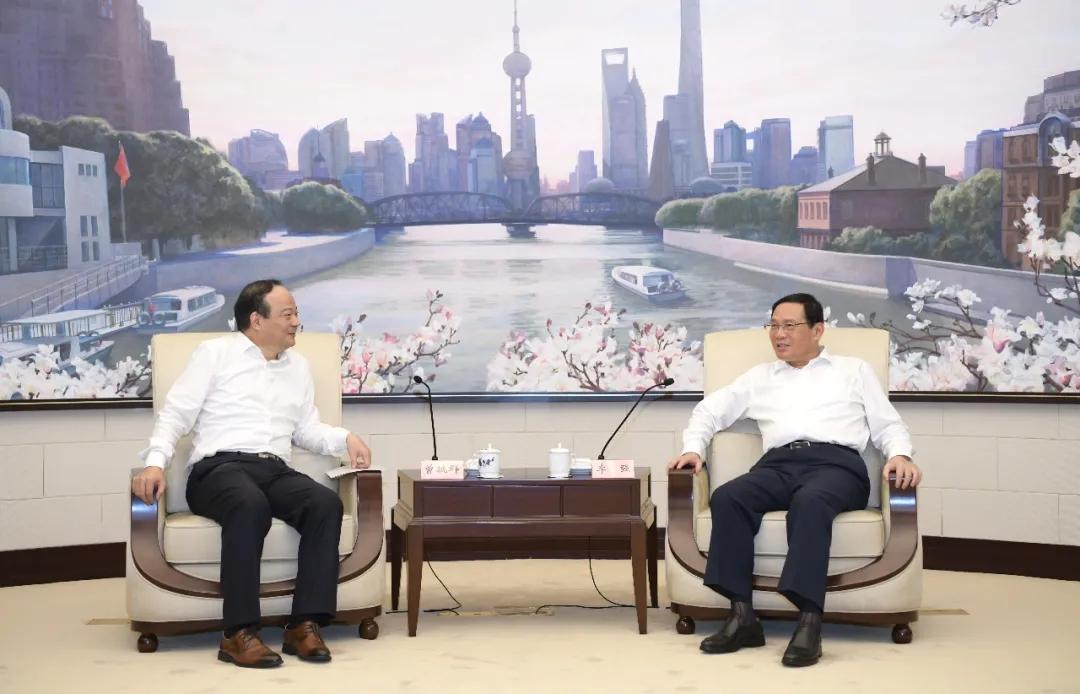 上海市委书记李强会见宁德时代董事长曾毓群一行