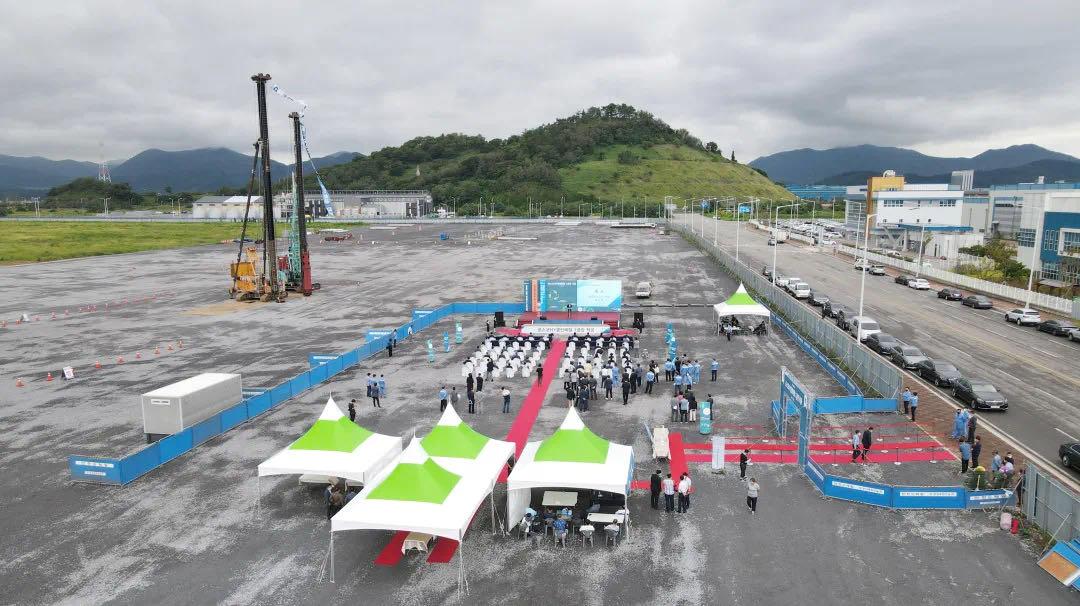 浦项华友循环再生韩国公司开工建设